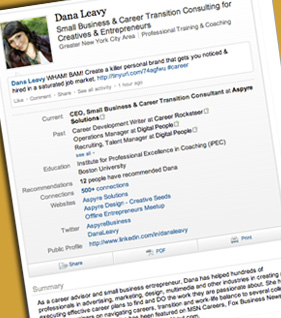 LinkedIn Profile Development for Job Seekers - Dana Leavy Career Coach